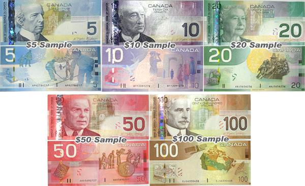 2017年版 カナダドルへの両替サ...