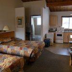 キッチン付きホテル ベッドふたつのお部屋